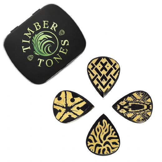 Tribal Tones Mixed Tin of 4 Guitar Picks